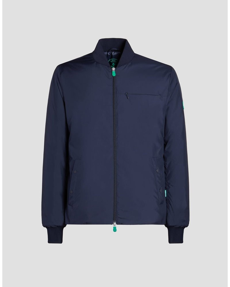 SAVE THE DUCK Navy Baseball Style Casual Coat
