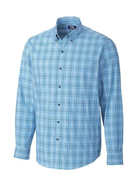 CUTTER & BUCK Soar Fine Line Plaid Shirt