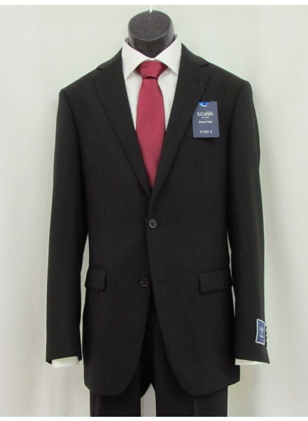 S COHEN Modern Fit Black Smart Suit Separates Suit