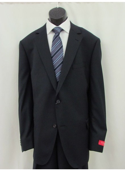 S COHEN Classic Fit Navy Neat Suit