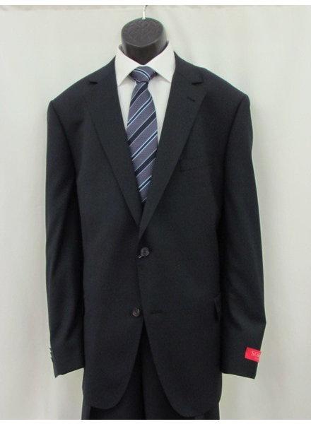 S COHEN Plain Navy Neat Suit
