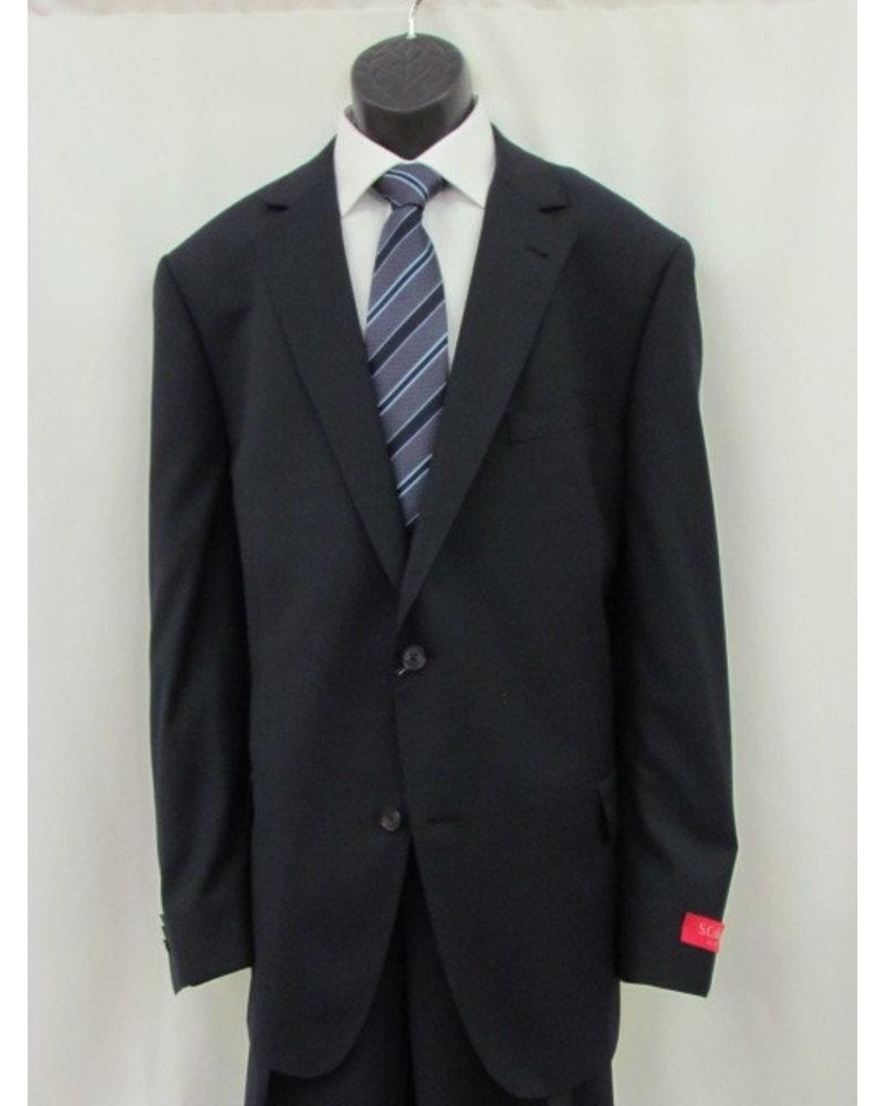 S COHEN Classic Fit Navy Neat Suit