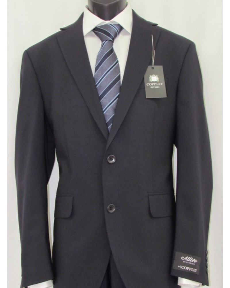 COPPLEY Modern Fit Navy Solid Attivo Suit