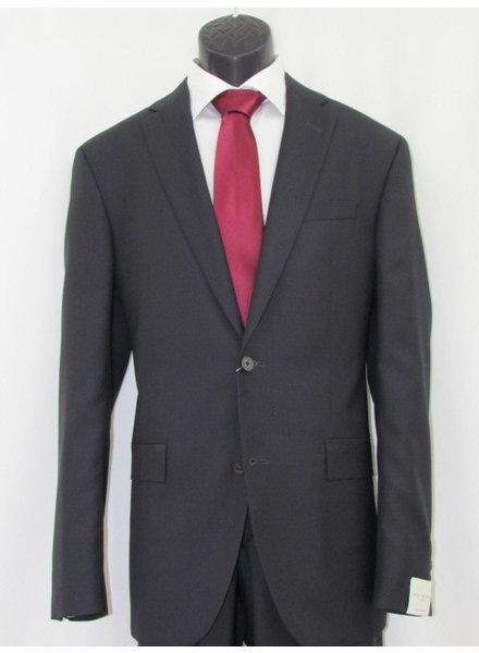JACK VICTOR Slim Fit Black Self Pin Dot Neat Suit