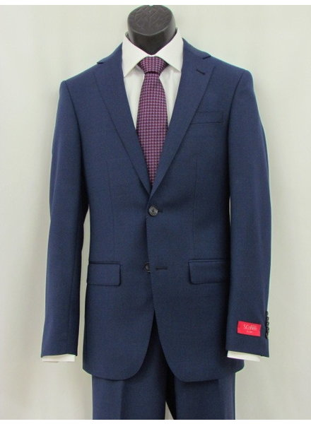 S COHEN Slim Fit Bright Blue Plain Suit