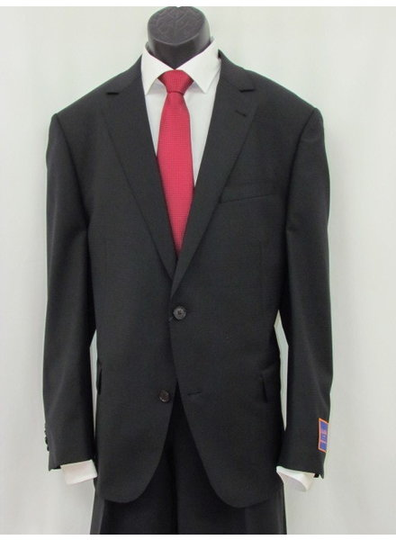 S COHEN Classic Fit Black with Small Tonal Block Suit
