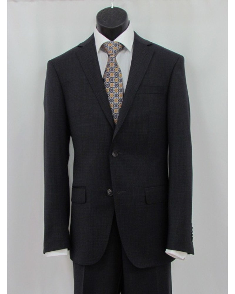 S COHEN Slim Fit Charcoal Neat Block Suit