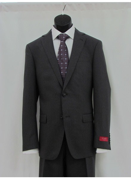 S COHEN Slim Fit Mid Grey Solid Suit