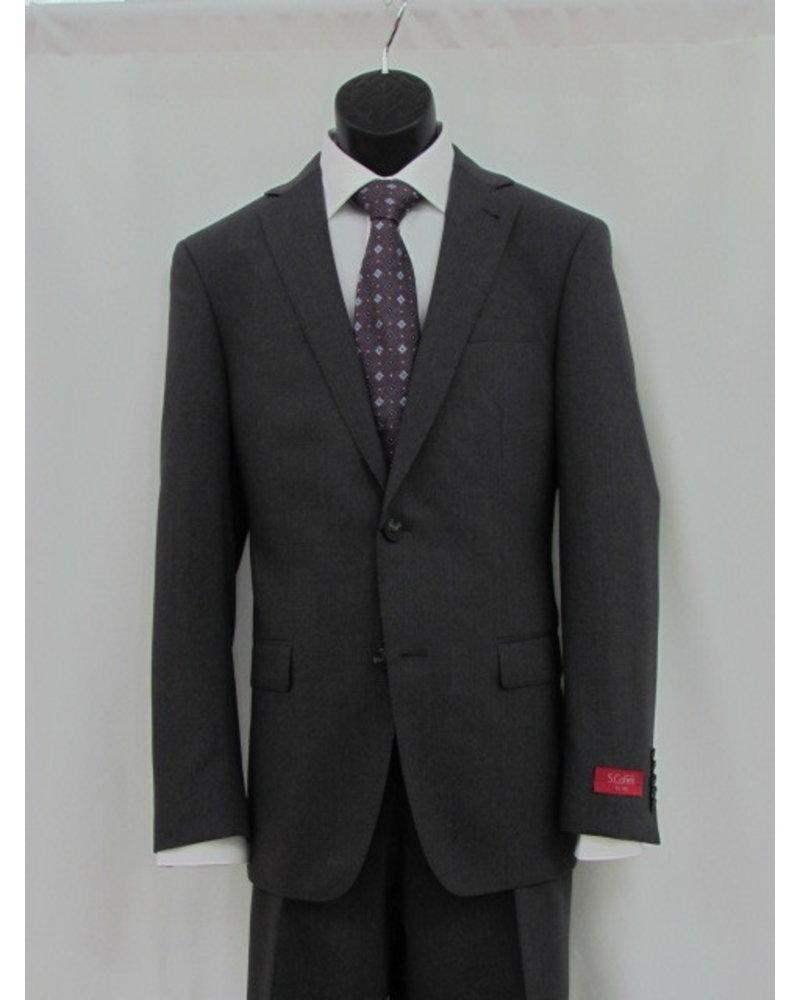 S COHEN Slim Fit Mid Grey Solid Suit