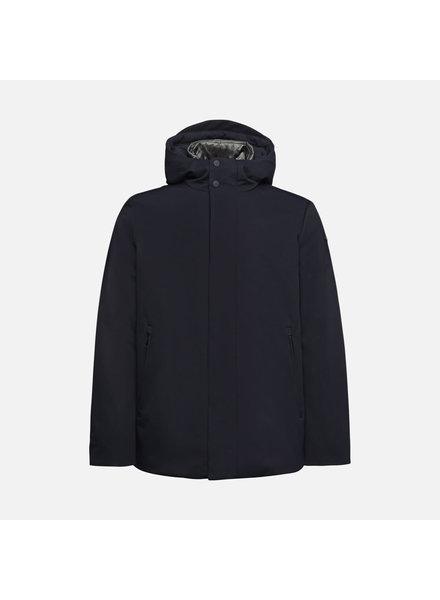 GEOX Navy Open Bottom Casual Coat