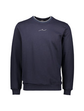 PAUL & SHARK Navy Cotton Jersey Shark Logo Sweatshirt