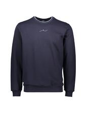 PAUL & SHARK Navy Cotton Jersey Shark Logo