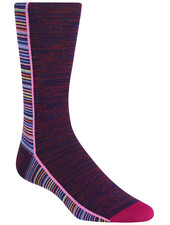 BUGATCHI UOMO Multi Coloured Block Stripe Socks