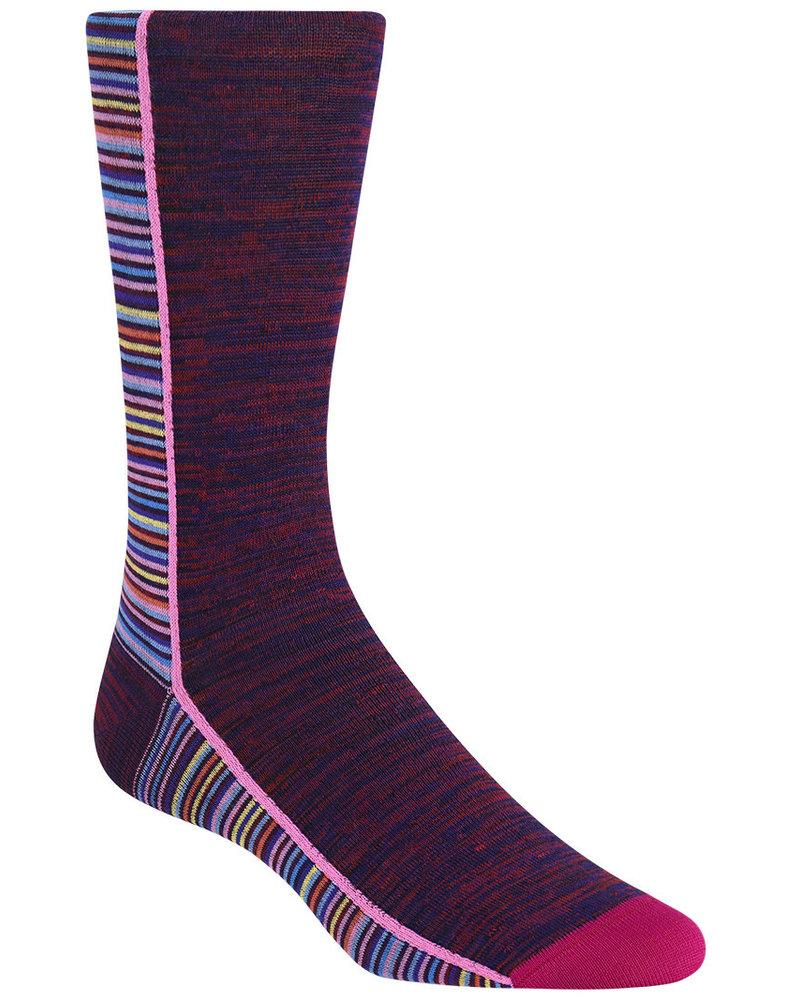 BUGATCHI UOMO Multi Coloured Block Stripe Socks