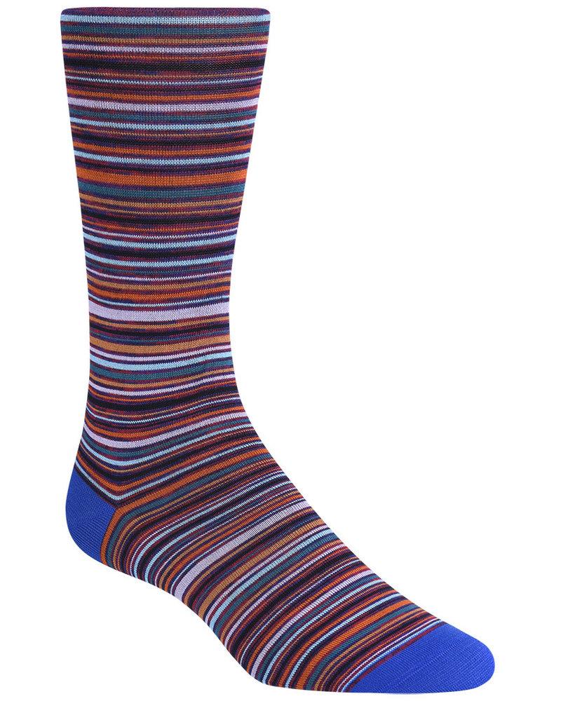 BUGATCHI UOMO Multi Coloured Stripe Socks