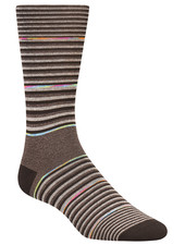 BUGATCHI UOMO Mocha Stripe Sock