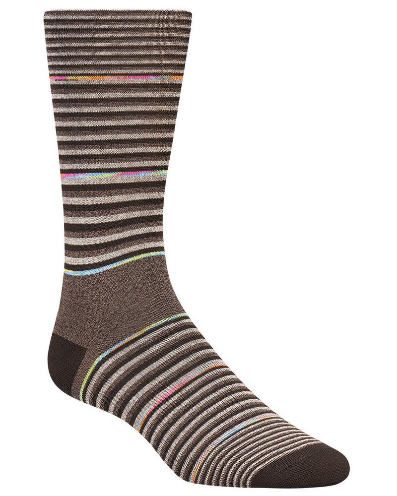 BUGATCHI UOMO Mocha Stripe Socks