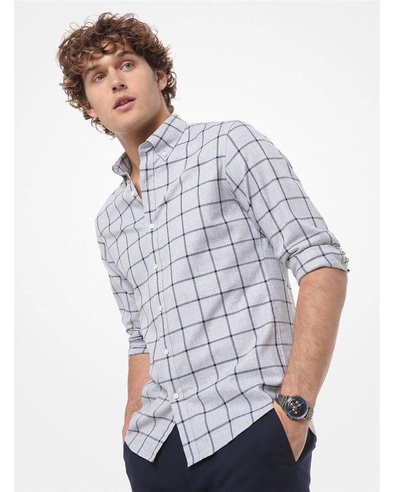 MICHAEL KORS Slim Fit Grey with Blue Block