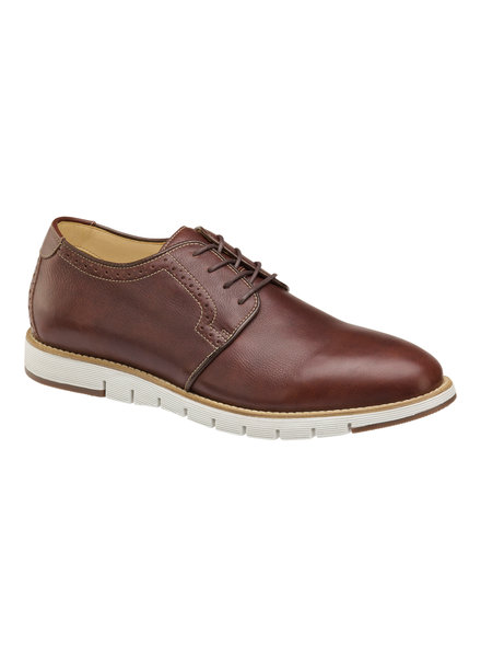 JOHNSTON & MURPHY Martell Plain Toe Mahogany Leather Shoe