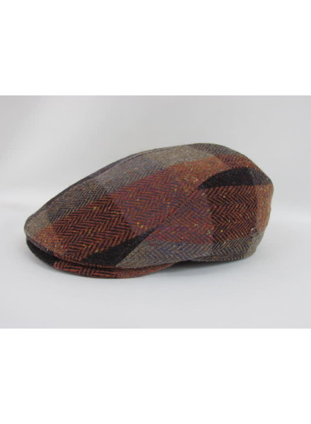 GOTTMANN Orange Plaid Tweed Flat Cap