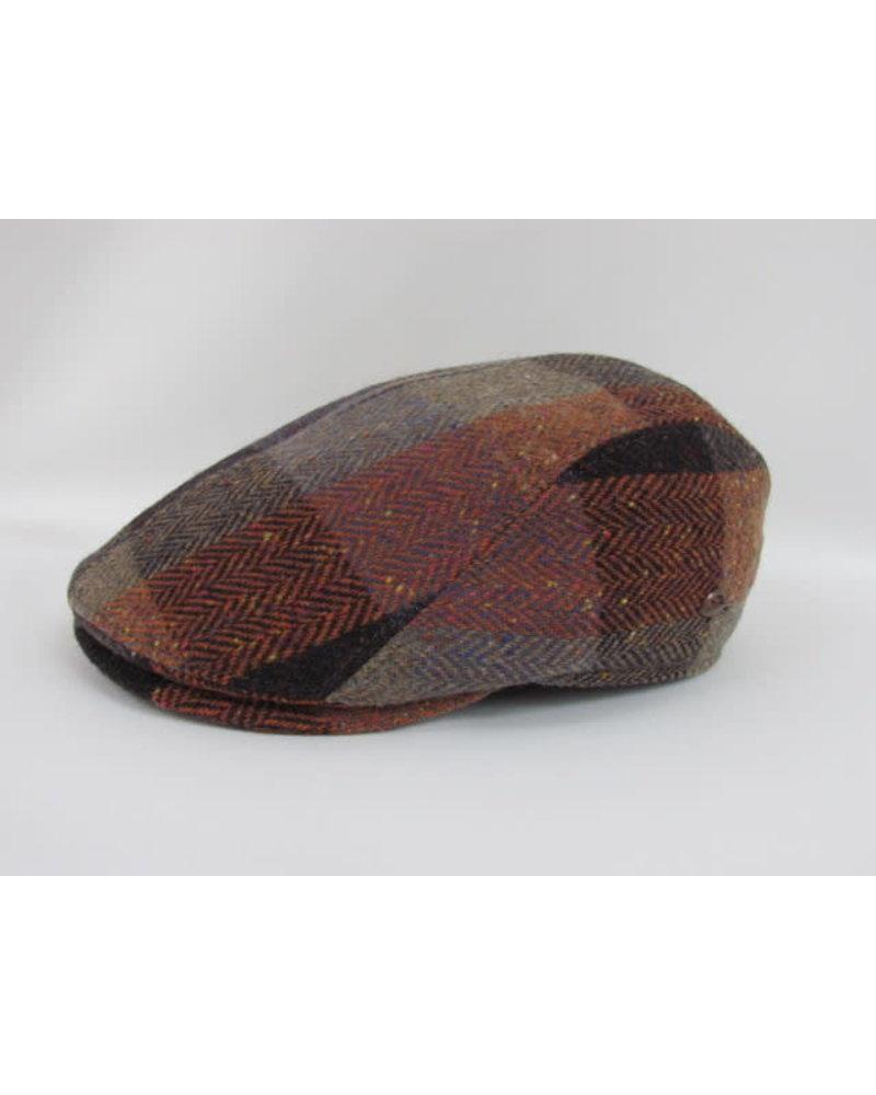 GOTTMANN Orange Plaid Tweed Flat Cap