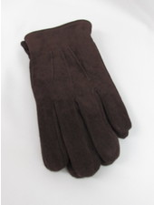 BRUUN & STENGADE Brown Suede Gloves