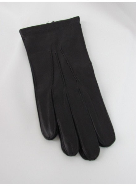 Black Leather Unlined Gloves