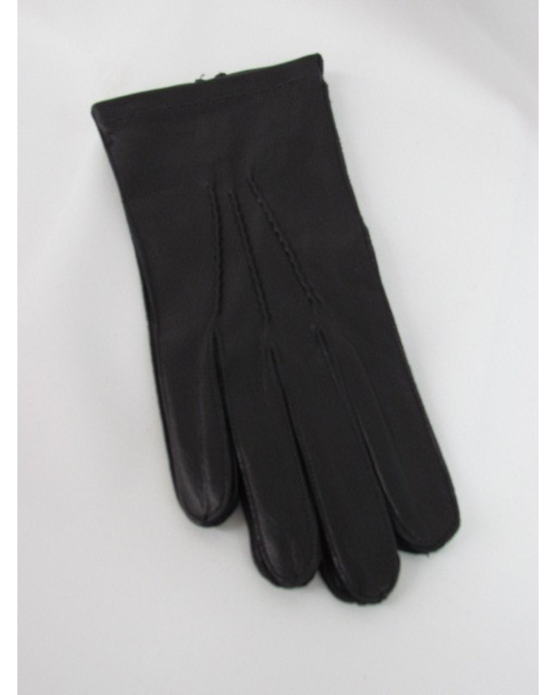 ALBEE Black Leather Unlined Gloves