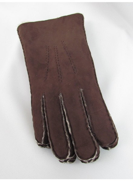 Brown Lambskin Suede Gloves