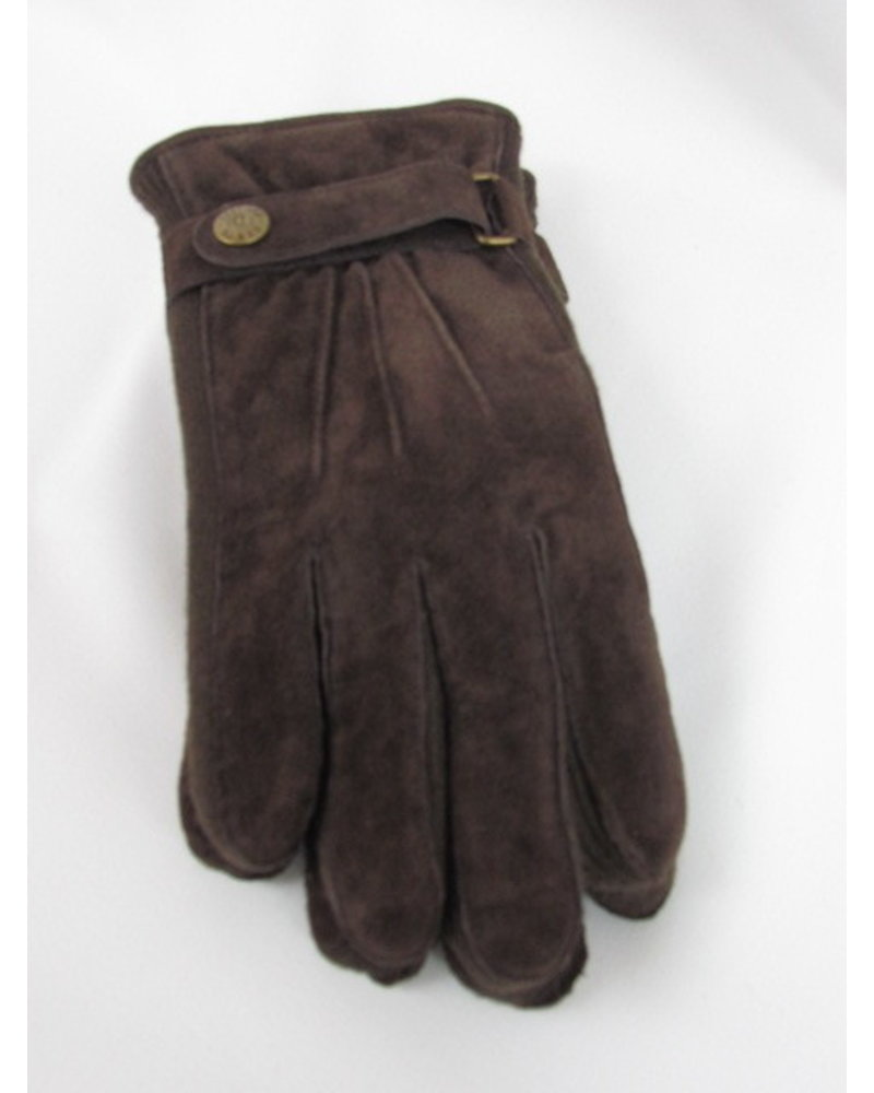 Suede With Knit Seam Gloves