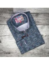 7 DOWNIE Contemporary Fit Blue Kaleidoscopic Print