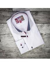 7 DOWNIE Modern Fit White Tonal Multi Patterns