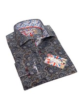 7 DOWNIE Contemporary Fit Paisley Medallion Print