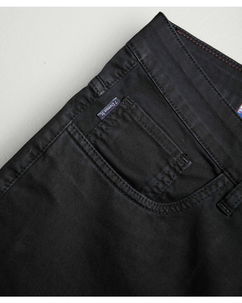 7 DOWNIE Classic Fit Black 5 Pocket Pant