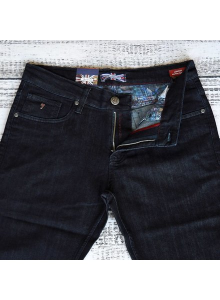 7 DOWNIE Classic Fit Navy Wash Jean