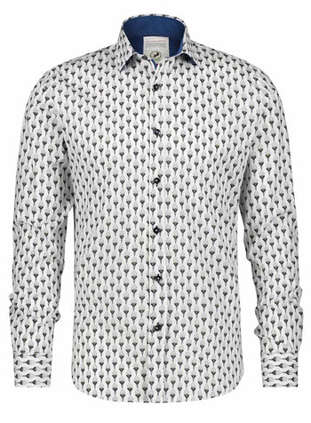 A FISH NAMED FRED Art Deco Ornaments White Shirt