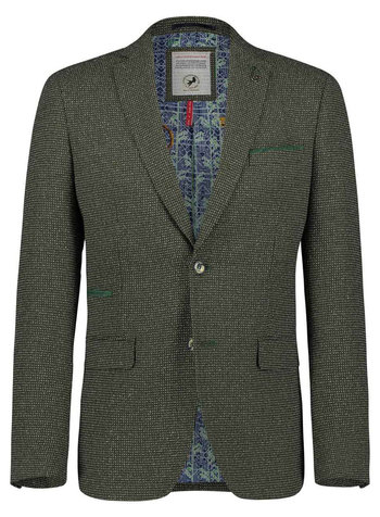 A FISH NAMED FRED Green & Grey Woven Blazer