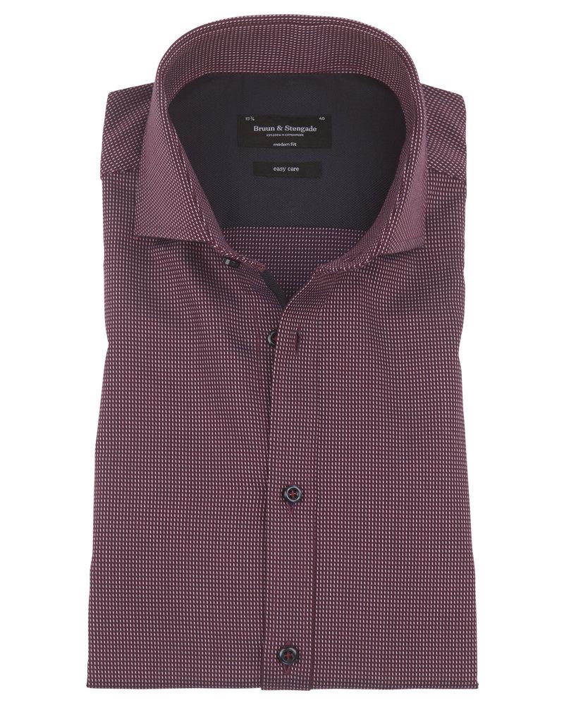 BRUUN & STENGADE Bordeaux Neat Modern Fit Shirt