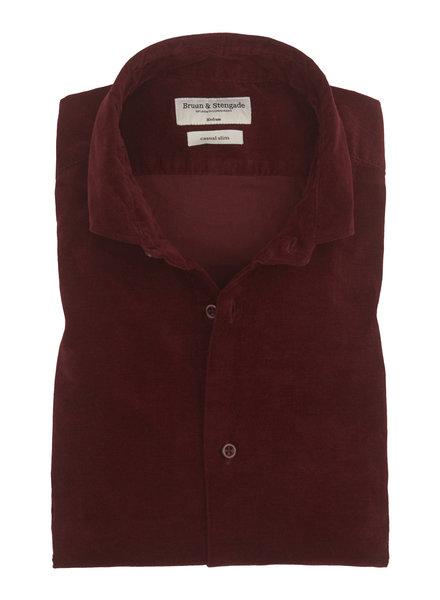 BRUUN & STENGADE Bordeaux Corduroy Shirt