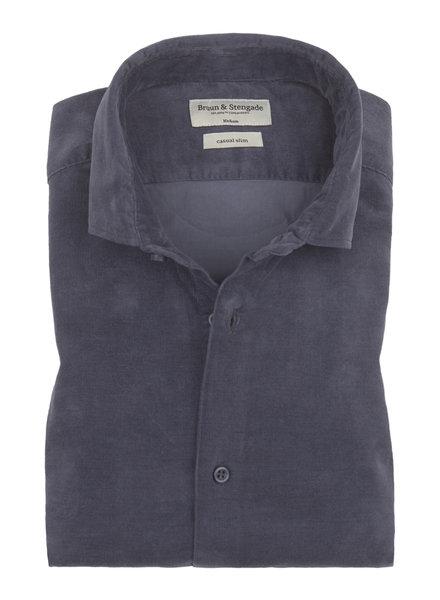 BRUUN & STENGADE Blue Corduroy Shirt