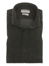 BRUUN & STENGADE Slim Fit Green Corduroy Shirt