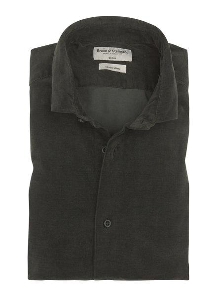 BRUUN & STENGADE Green Corduroy Shirt