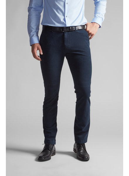 SUNWILL Navy Solid Slim Fit Pant