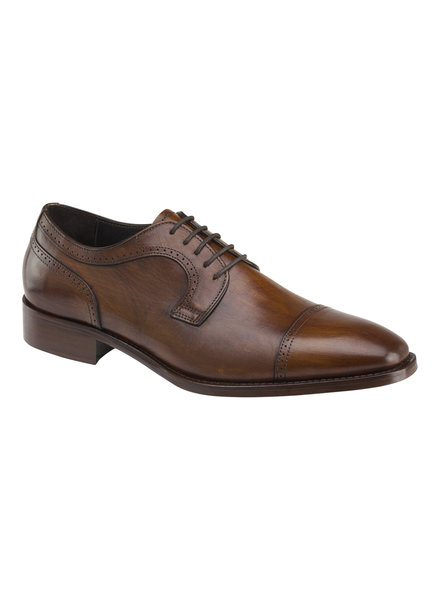 JOHNSTON & MURPHY Mahogany Cormac Toe Cap