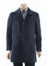 SUITOR Blue Herringbone Overcoat