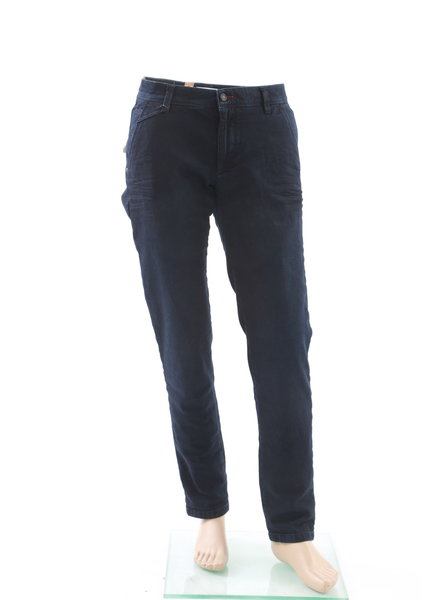BUGATTI Slim Fit Navy Heavy Twill Casual Pants