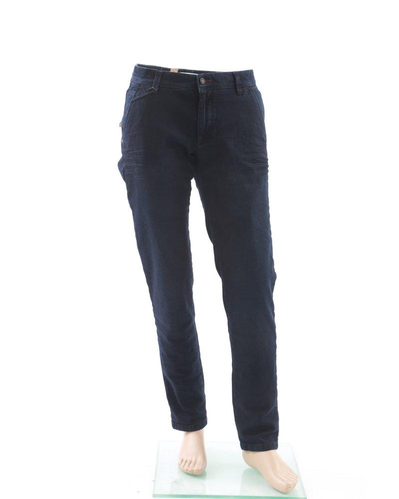 BUGATTI Slim Fit Navy Heavy Twill Casual Pants