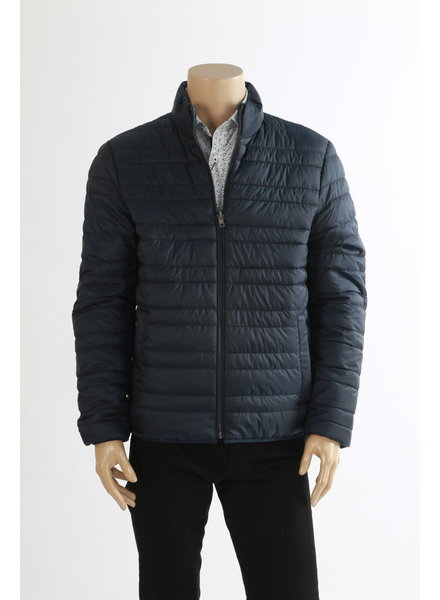 MICHAEL KORS Navy Poly Filler Puffer Jacket Reversible