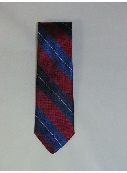 DION Red and Navy Stripe Tie