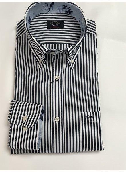 PAUL & SHARK Yachting Navy Stripe Shirt